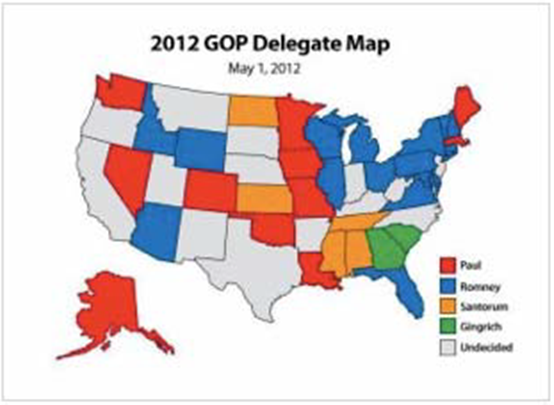 2012 GOP Delegate map May 1 2012