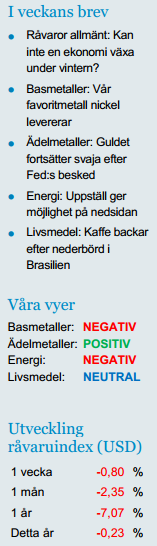 SHB Råvaror 21 mars 2014