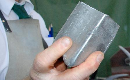En klump av aluminium