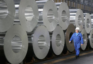 Aluminiumproduktion i stor skala
