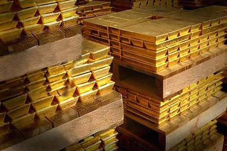 Amounts of gold being stored