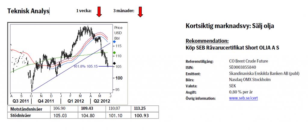 Analys av framtida oljepris den 25 maj 2012