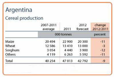Argentina cereal production