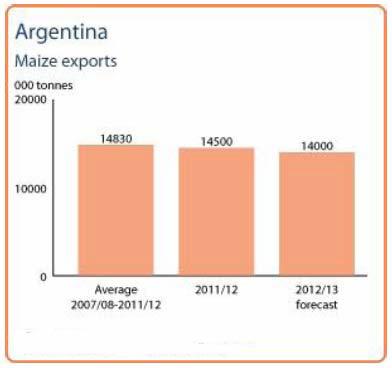 Majsexport i Argentina