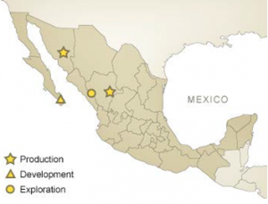 Argonaut Gold - Map of resources in Mexico