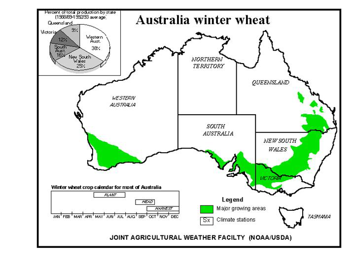 Australia winter wheat map