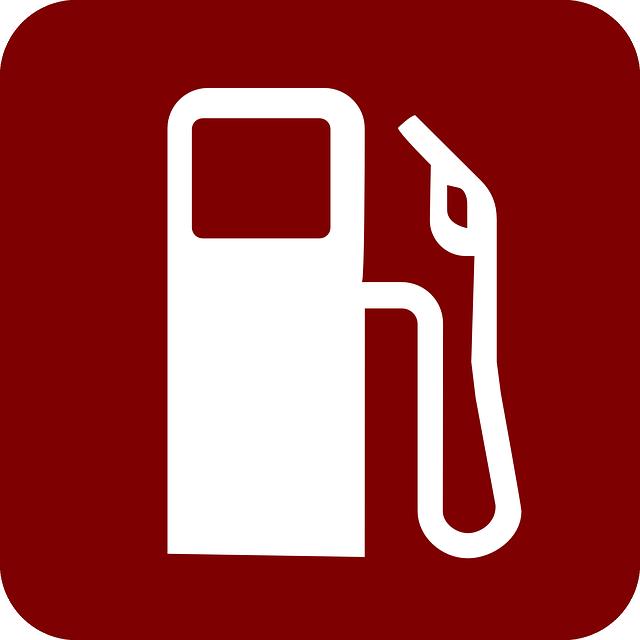 Pris på bensin, graf i diagram över termin (BR)