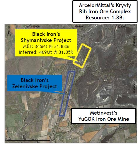 Black Iron - Flygfoto över Zelenivske och Shymanivske