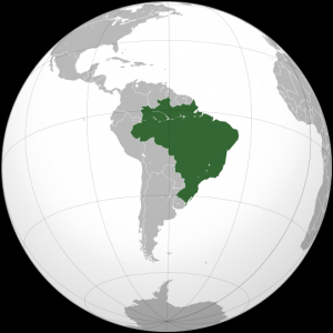 Karta över Brasilien - Ett blivande exportland av olja