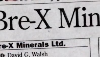 Dokumentärfilm om Bre-X – Den massiva gruvbolagsbluffen