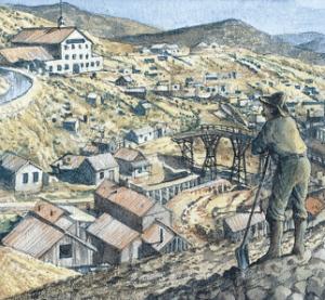 Den berömda Comstock-gången för guldbrytning