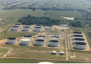 Cushing - Olja - Oljehuben dit oljepipelines går