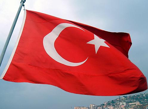 Den turkiska flaggan