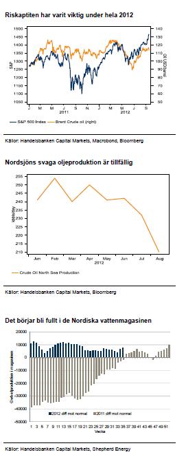 Diagram över energi, olja och riskaptit