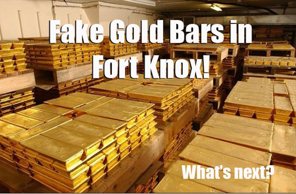 Fake gold bars in Fort Nox