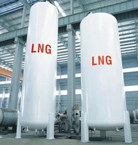 Flytande kyld naturgas i tank