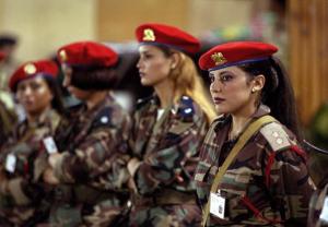 Den libyska ledaren Gaddafis privata säkerhetsarme