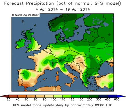 GFS-model - Europa