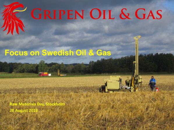 Gripen Oil & Gas borrar efter olja i Sverige