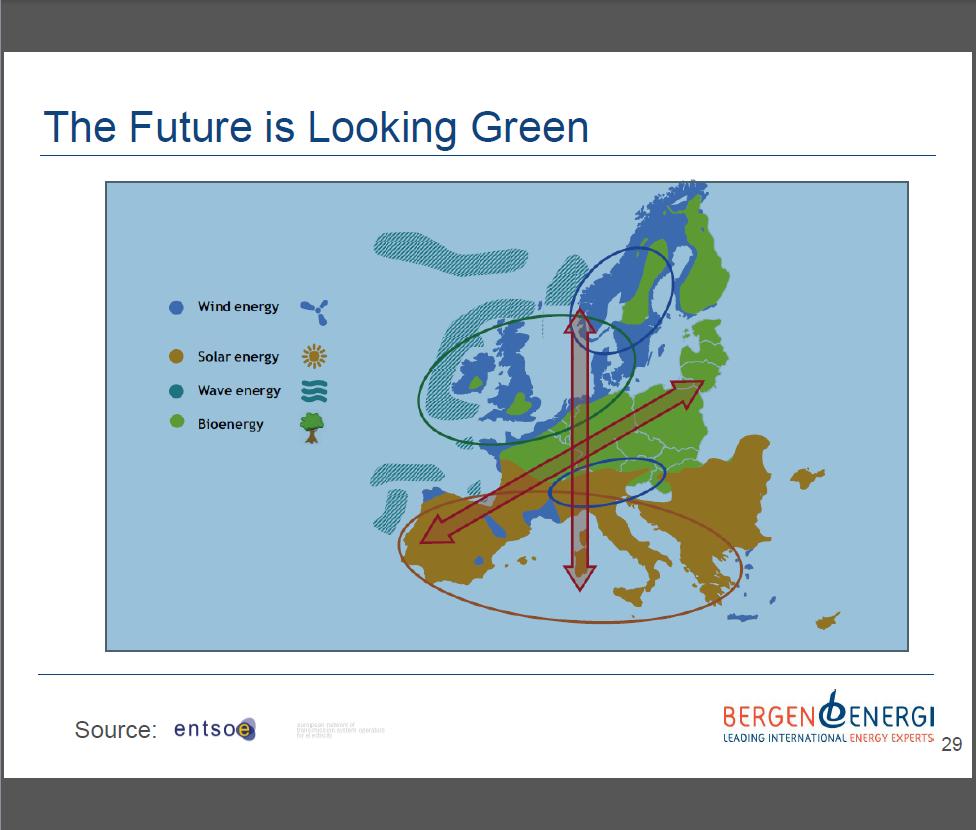 Grön energi i Europa - Karta