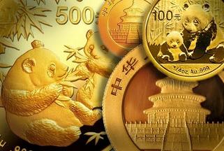 Panda-guldmynt från Kina