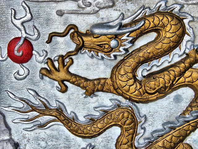Guld och silver drake i Kina