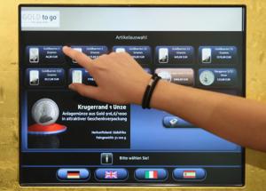 Guldautomat av modell som lanseras i Kina