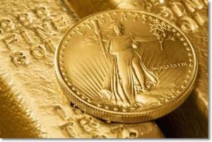 Guldmynt på guldtacka - Bra för att investera
