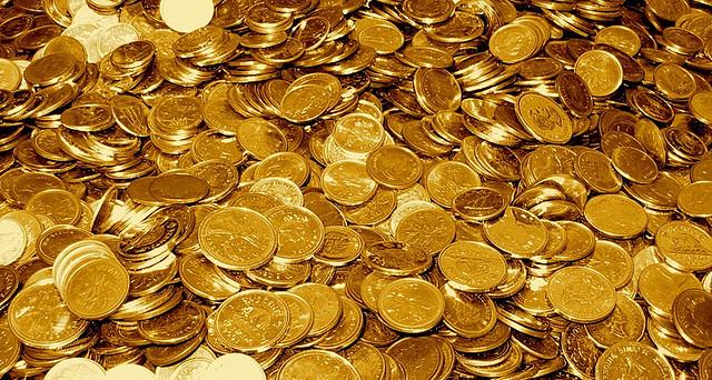 Massor av guldmynt