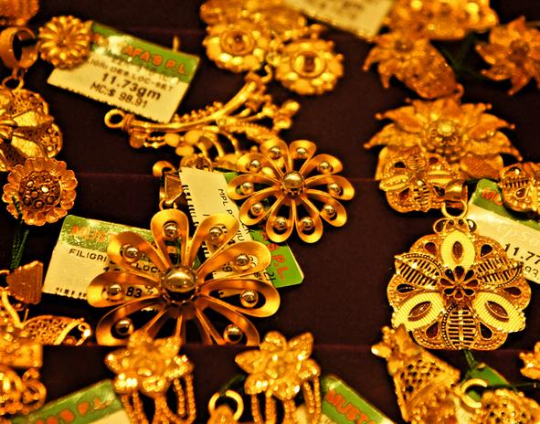 Guldsmycken i Indien