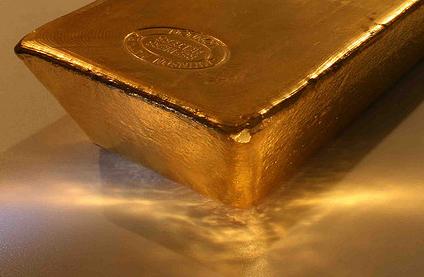 Guldtacka i närbild
