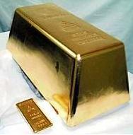 Världens största guldtacka på 250 kg gjord av Mitsubishi Materials Corporation