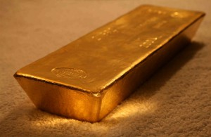 Guldtacka lagrad hos Bullion Vault