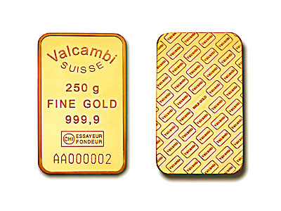 Guldtacka - Valcambi Suisse 250 gram