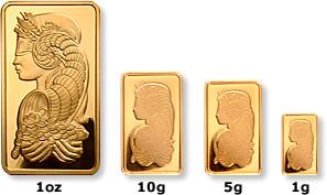 Guldtackor Swiss Pamp - Olika prisspread