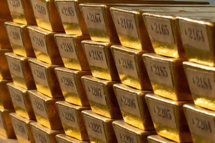 Guldtackor som tillhör tysklands centralbank