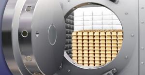 Valv för att lagra guld säkert