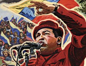 Hugo Chavez gör revolution mot guldindusrin