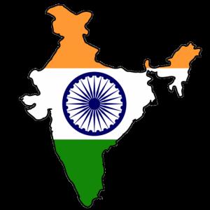 Karta över indien med flagga