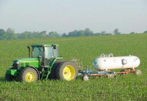 Jordbruk som kräver gödsel i form av kväve, ammoniak och UAN