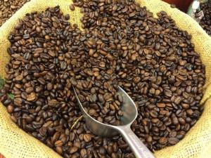 Kursrusning i kaffe efter skyfall