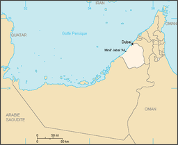 Karta var Dubai ligger