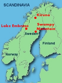 Karta över Scandinavian Resources gruvor