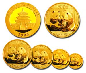 Kinas efterfrågan på guld ökar med pandamynten