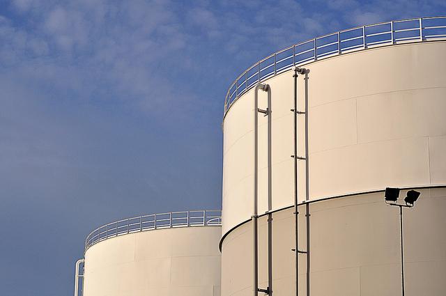 Lagring av olja i silo