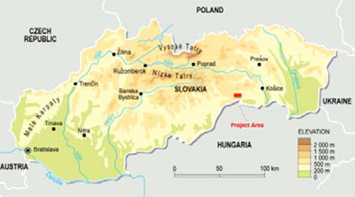 Map of Slovakia - The silver of Global Minerals