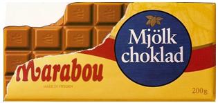 Marabou chokladkaka - Lik en Valcambi CombiBar