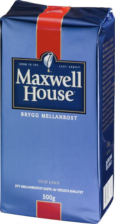 Bryggkaffe från Maxwell House