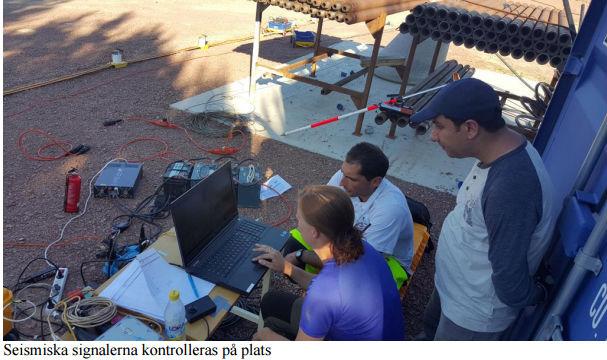 Igrene undersöker seismik i Mora