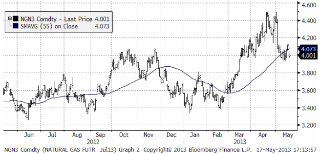 Naturgaspris-analys för investerare
